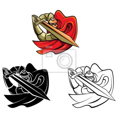 Libro para colorear caballero guerrero personaje de dibujos animados ...