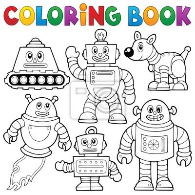 Libro para colorear colección robot 1 fotomural • fotomurales ...