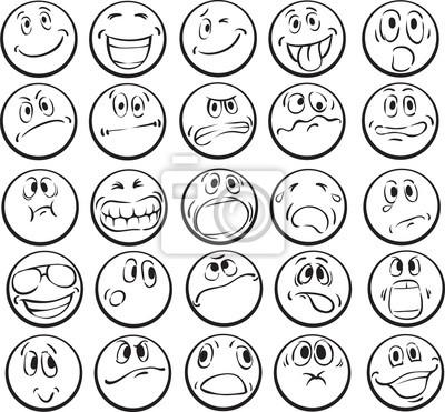 Libro para colorear de las caras emocionales fotomural • fotomurales ...