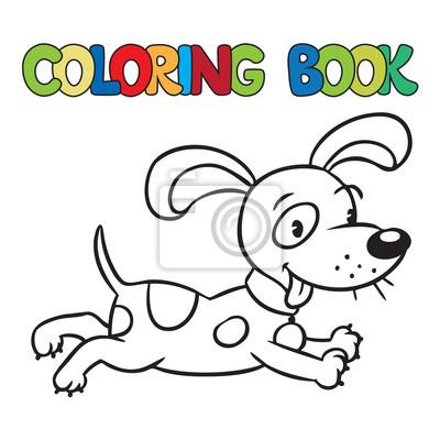 Libro para colorear de pequeño perro o cachorro fotomural ...