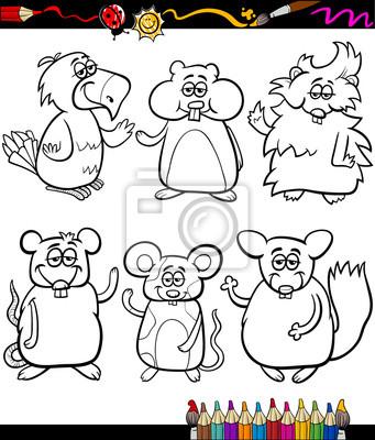 Libro para colorear dibujos animados cute pets fotomural ...