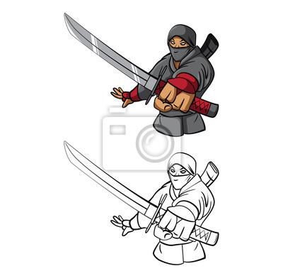 Libro para colorear dibujos animados ninja fotomural • fotomurales ...