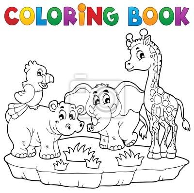 Libro Para Colorear Fauna Africana 2 Fotomural Fotomurales