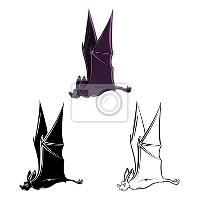 Libro para colorear murciélago tatuaje personaje de dibujos animados ...
