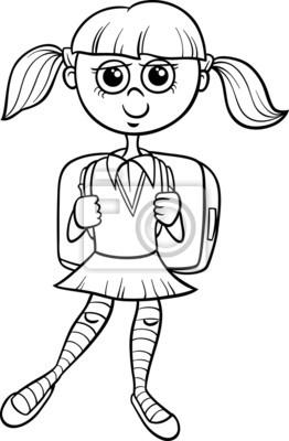Libro para colorear niña de la escuela primaria fotomural ... cc162f3e0b4