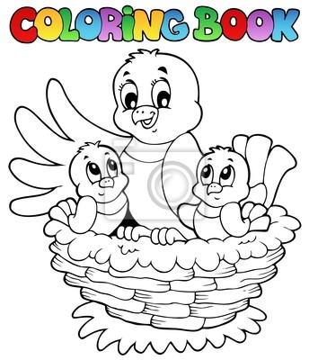 Libro para colorear tema del pájaro 1 fotomural • fotomurales ...