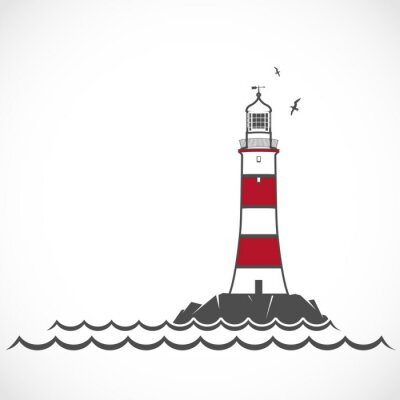 Fotomural Lighthouse icon.
