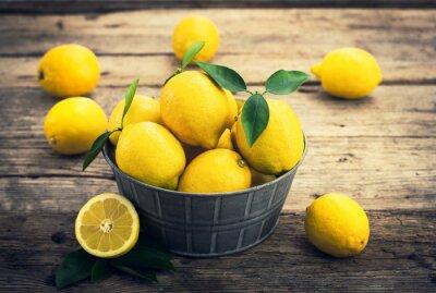 Fotomural Limones frescos en el cuento rústico