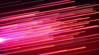 Fotomural Línea de velocidad rosa y rojo