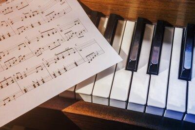 Fotomural Llaves del piano y de hoja de música