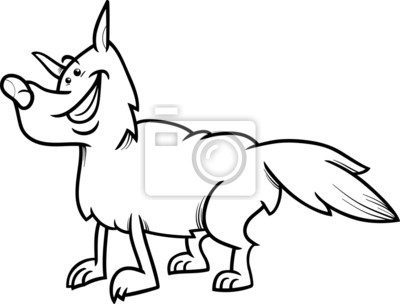 Lobo animales libro para colorear de dibujos animados fotomural ...