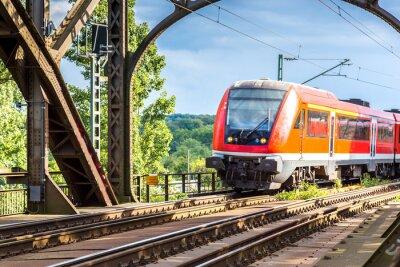 Fotomural Locomotora eléctrica en Frankfurt