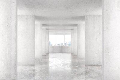 Fotomural Loft estilo túnel con muchas paredes en la luz vacío edificio con b