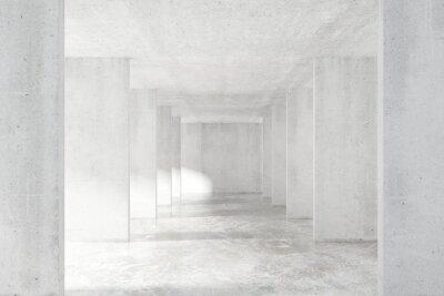Fotomural Loft túnel de estilo con muchas paredes en la luz vacío edificio