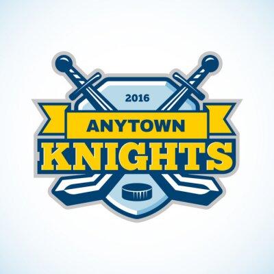 Fotomural Logotipo del equipo de los caballeros del hockey sobre hielo.