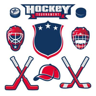 Fotomural Logotipo del hockey, emblema, etiqueta, elementos de diseño de la insignia