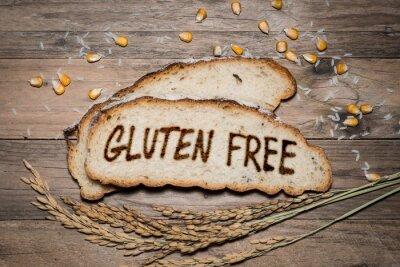 Fotomural Logotipo sin gluten a la parrilla en pan