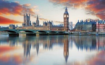 Fotomural London - Big ben and houses of parliament, UK