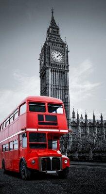 Fotomural London bus und Big Ben