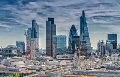 Fotomural London City. Modern skyline of business district