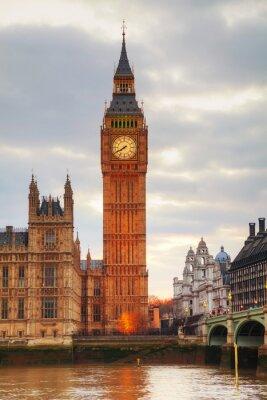 Fotomural Londres con la Torre del Reloj y las Casas del Parlamento