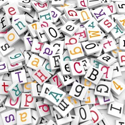 Fotomural Los caracteres alfabéticos - Concepto de la información