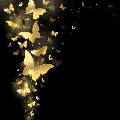 Fotomural los fuegos artificiales de las mariposas