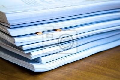 Fotomural Los montones de documentos