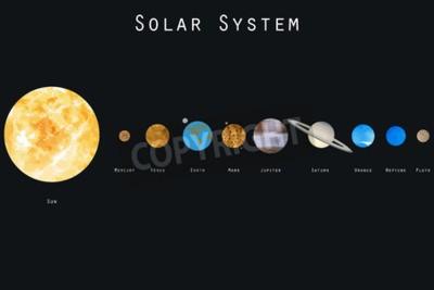 Fotomural Los planetas del sistema solar. Ilustración del vector.