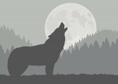Fotomural Luna del lobo