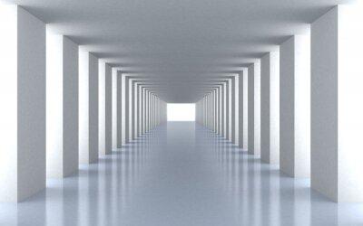 Fotomural Luz blanca del túnel