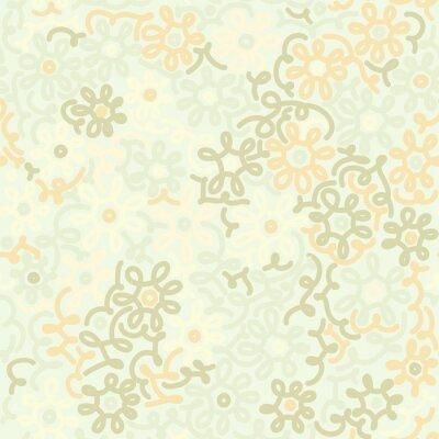 Fotomural Luz de manzanilla floral retro cosecha patrón. Modelo