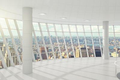 Fotomural Luz oficina grande con ventanas en el piso