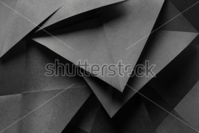 Fotomural Macro image of paper folded in geometric shapes, three-dimensional effect, abstract background