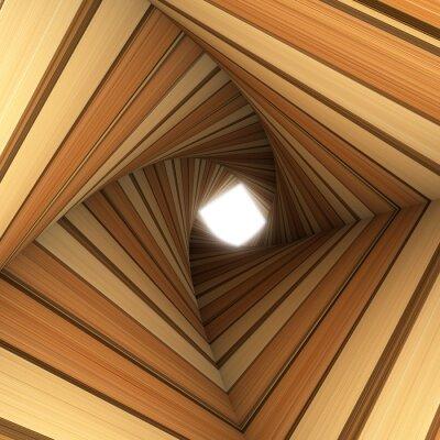 Fotomural madera túnel torcido