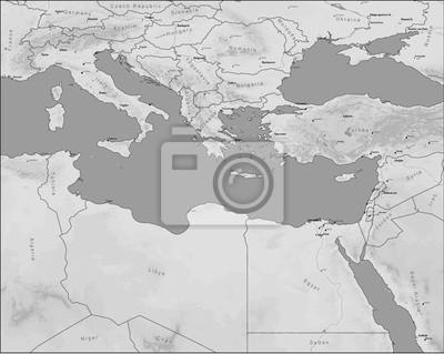 Fotomural mapa