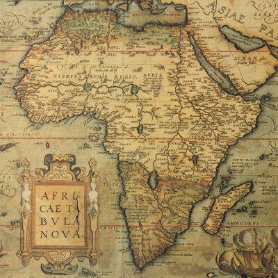 Fotomural Mapa antiguo del mapa de África por el cartógrafo holandés Abraham Ortelius