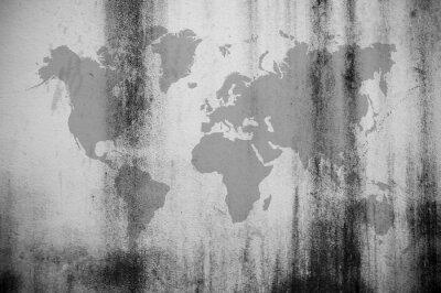Fotomural Mapa de la pared sucia