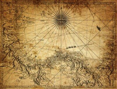 Fotomural Mapa de la vendimia de Panamá