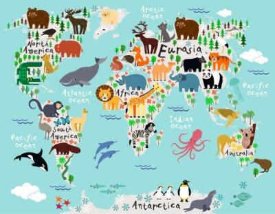 Fotomural Mapa del mundo