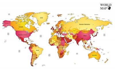 Fotomural Mapa del mundo.