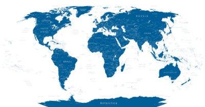 Fotomural Mapa del Mundo altamente detallado