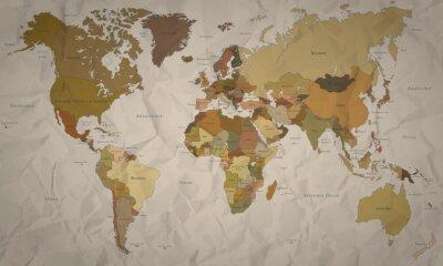Fotomural Mapa del mundo antiguo con el Verlauf (hoher Detailgrad)