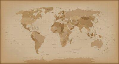 Fotomural Mapa del mundo del vintage