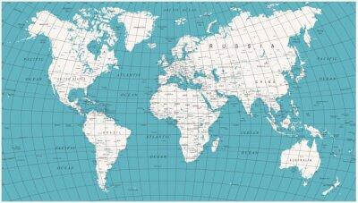 Fotomural Mapa del mundo Vintage político de la vendimia