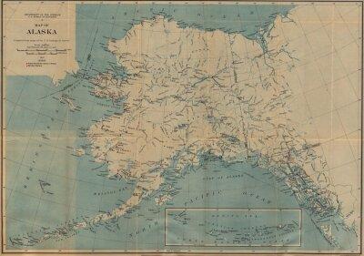 Fotomural Mapa del vintage