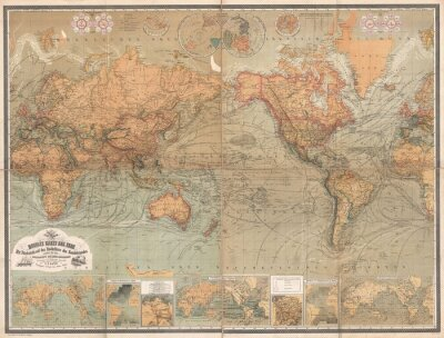 Fotomural Mapa vintage