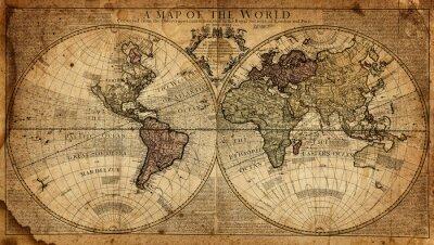 Fotomural Mapa vintage del mundo