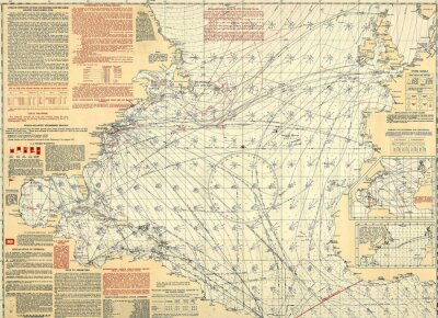 Fotomural Mapa vintage náutico