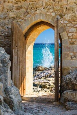 Fotomural mar abierto la puerta
